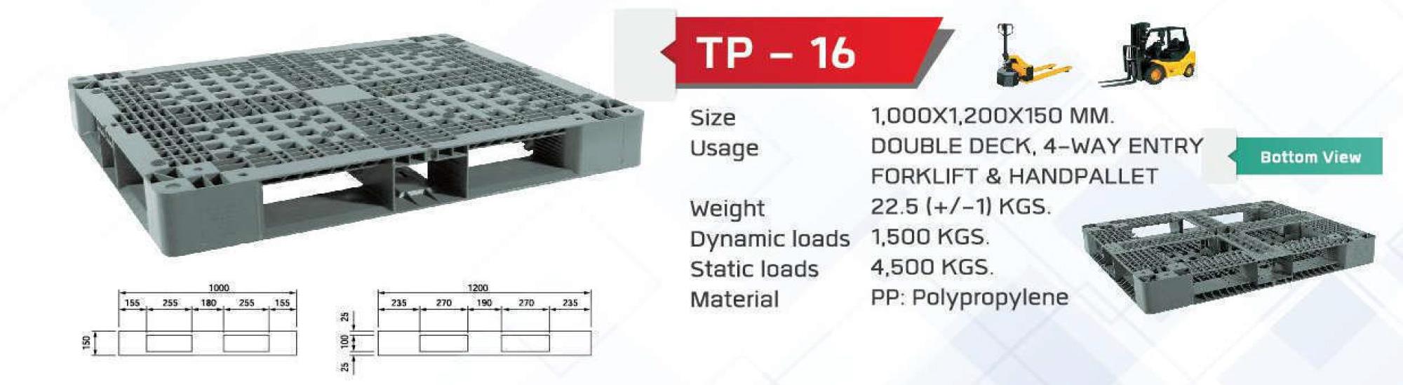 Non-Reversible-pallet-TP-16