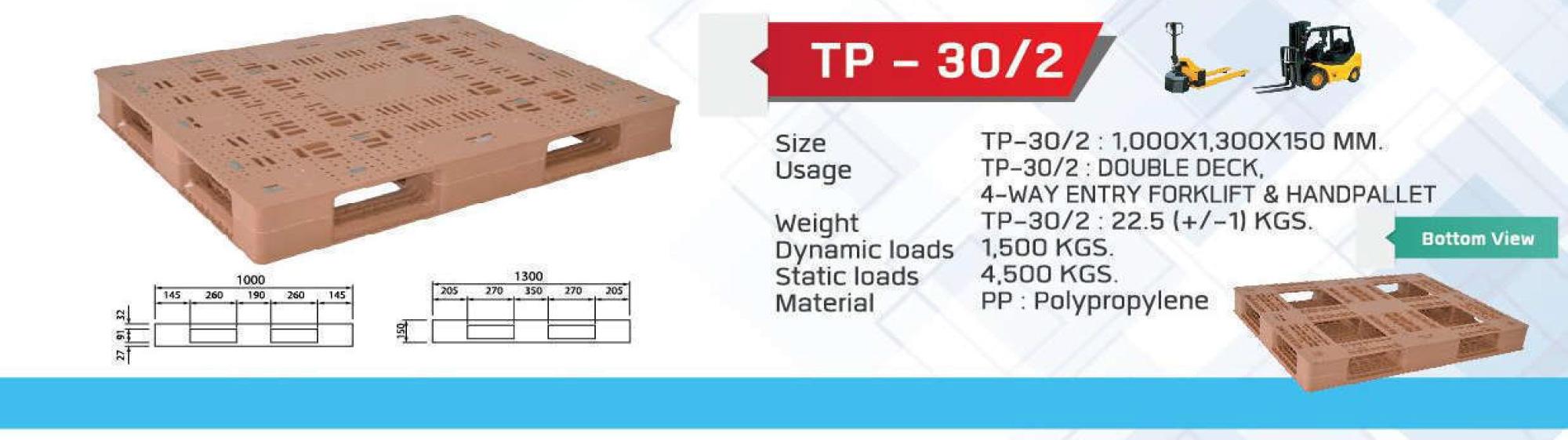 Non-Reversible-pallet-TP-30-2