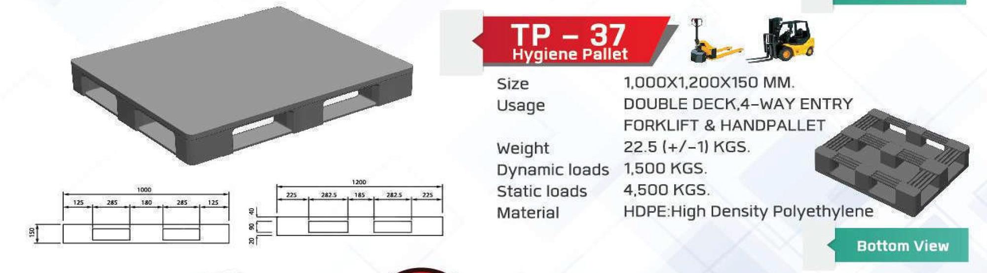 Non-Reversible-pallet-TP-37